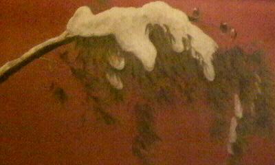 雪呉竹の群雀