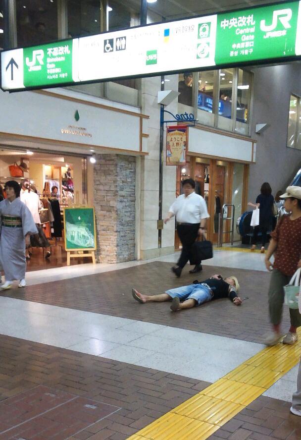 上野駅の歓迎
