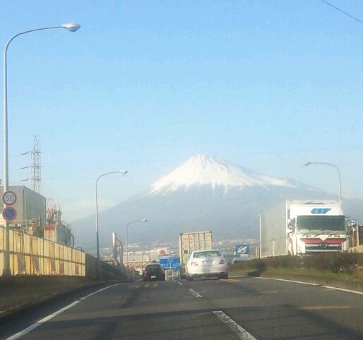 別れの日の富士山