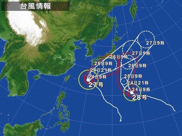 台風列島臨戦態勢?