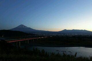 富士山と富士川