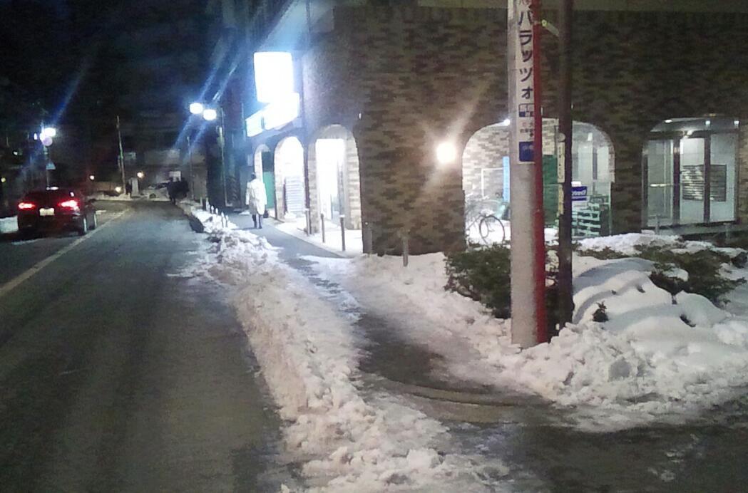 駅までの雪道