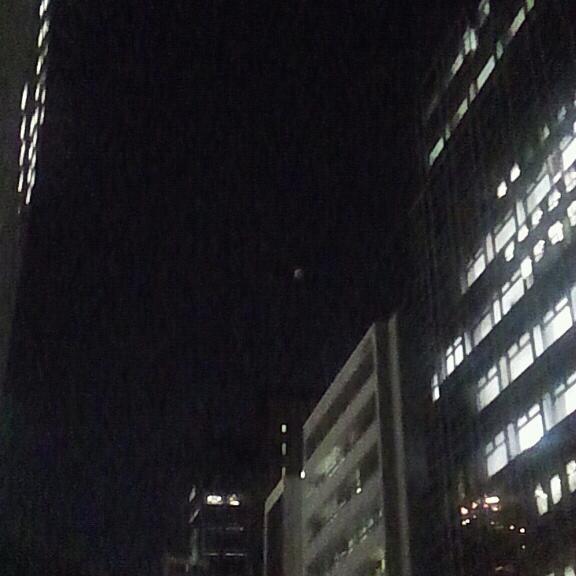 大阪の月食