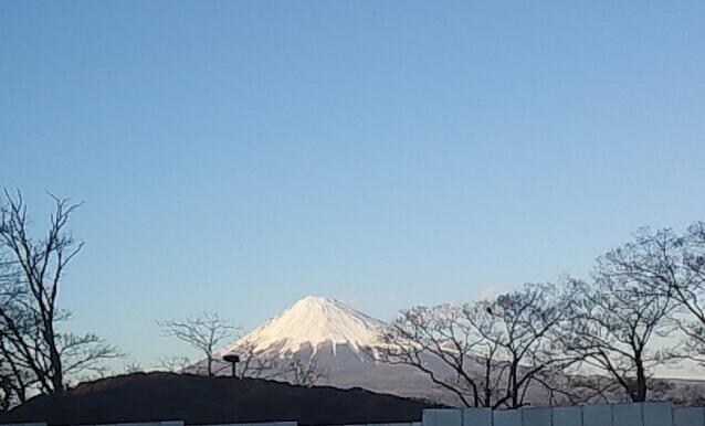今日の黄昏の富士山