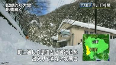 去年の大雪