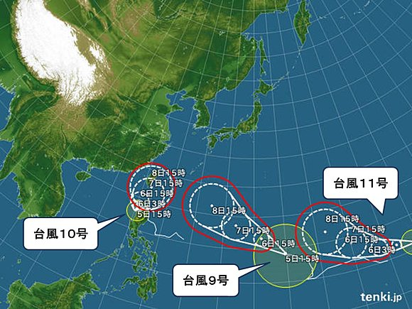 台風の動向
