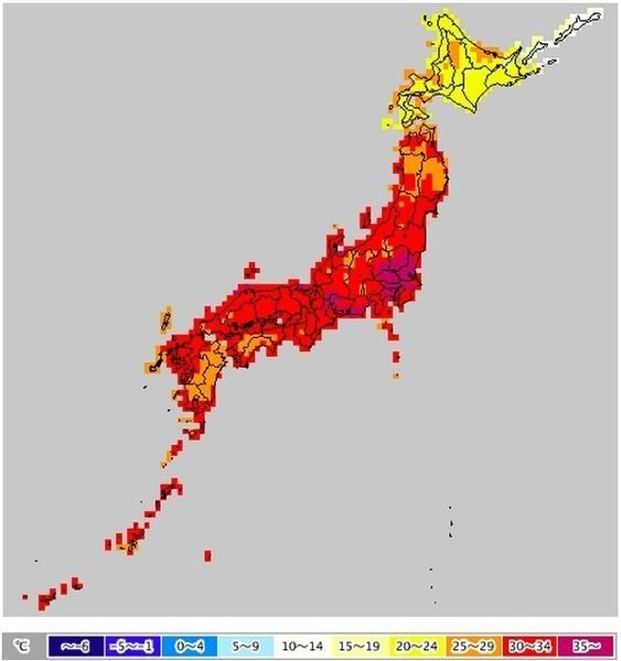 真っ赤な地図