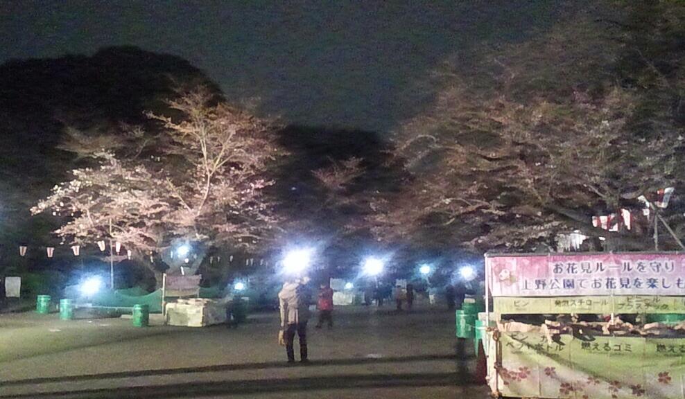 上野の山の…