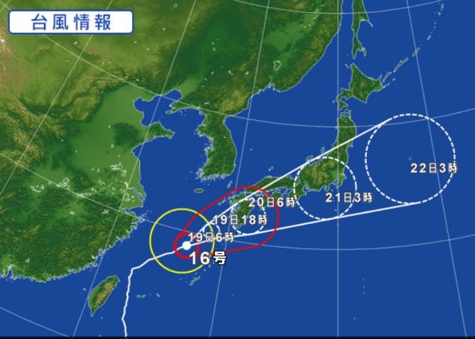 台風来ます