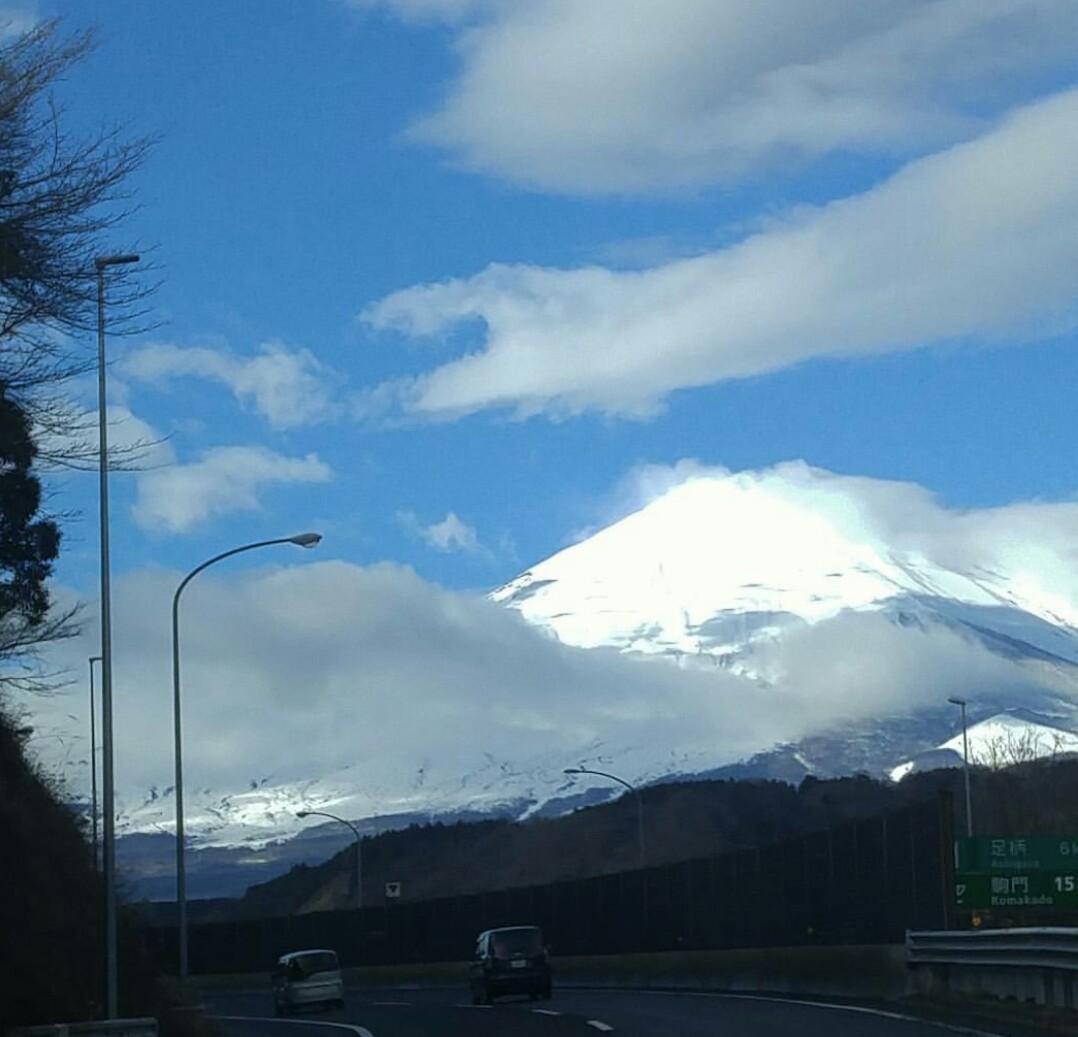 午前中の富士山