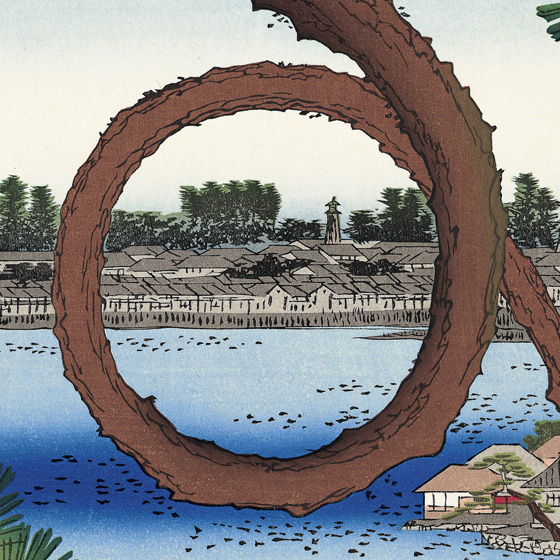 チラシの背景画