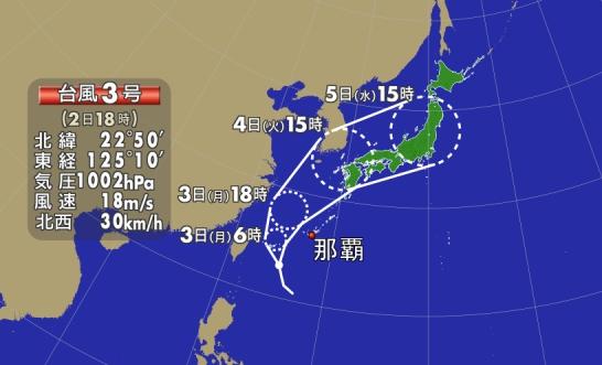 台風上陸?