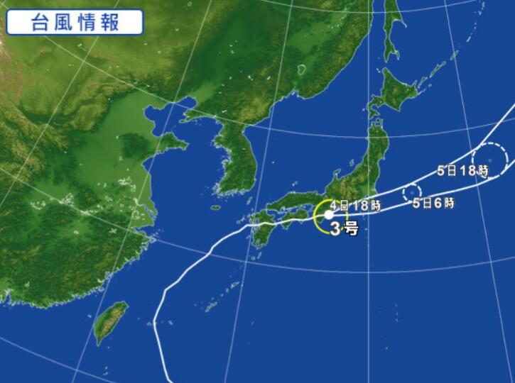 台風再々上陸