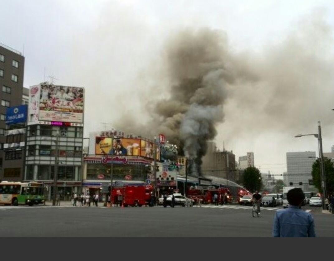 築地場外市場の火事