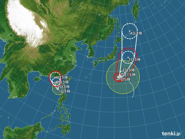 台風15号・16号