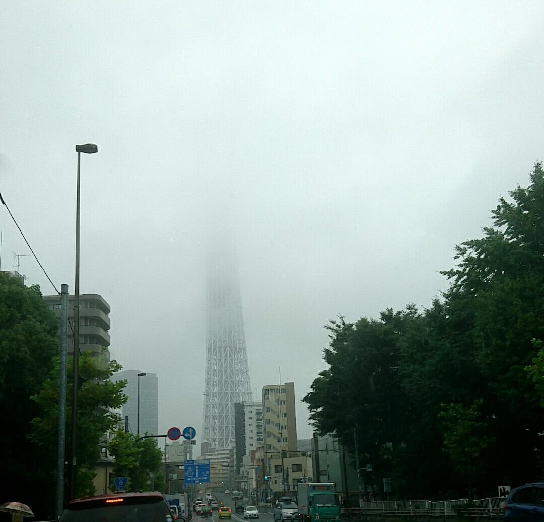 台風前日?
