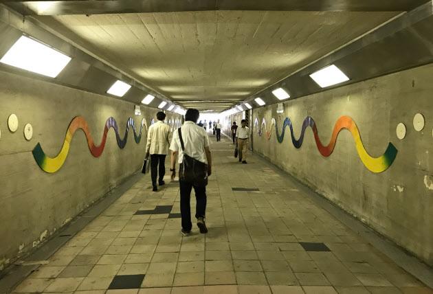 不思議な地下道
