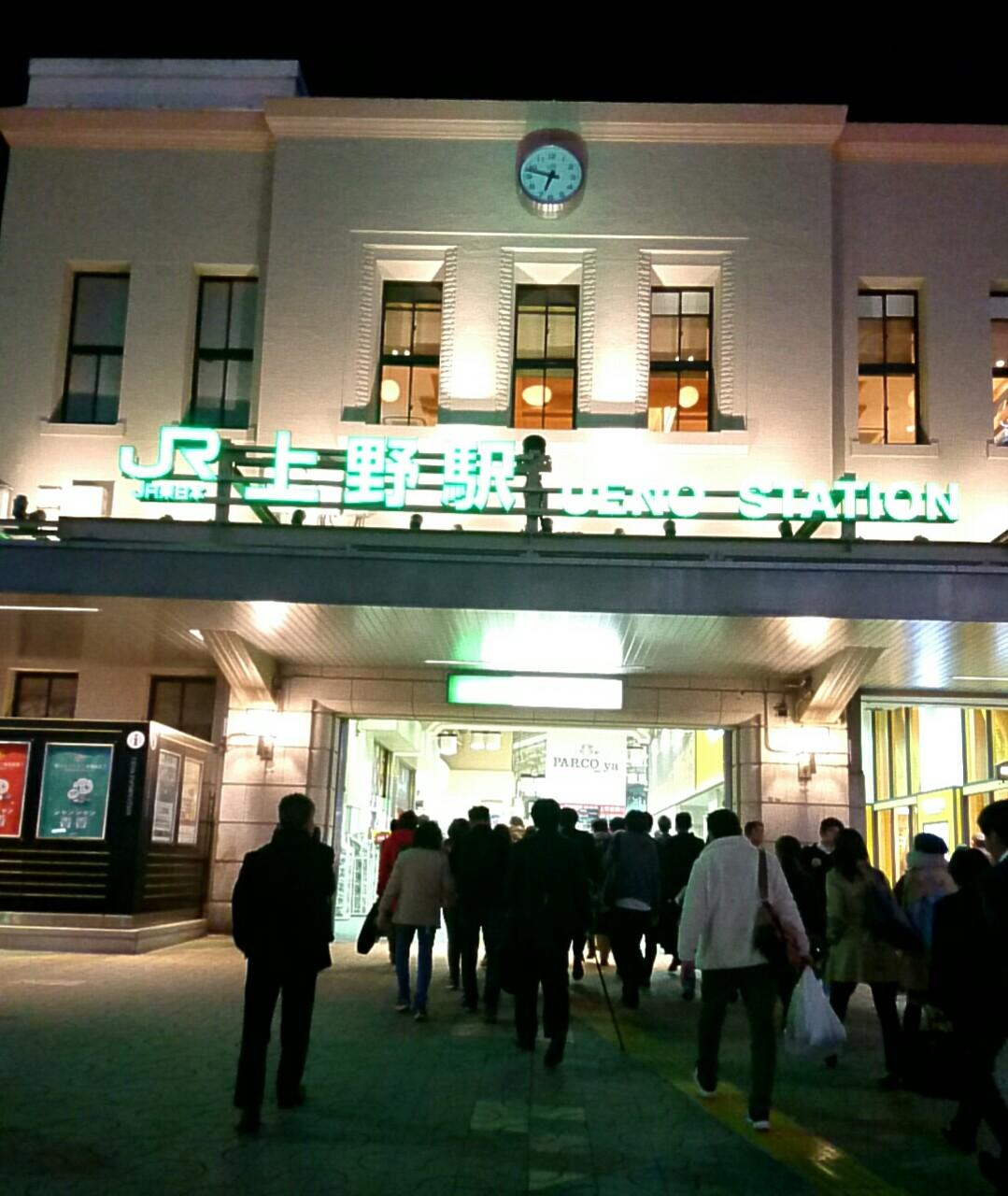 上野駅前で