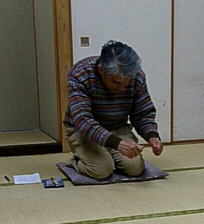 新参さんの稽古写真