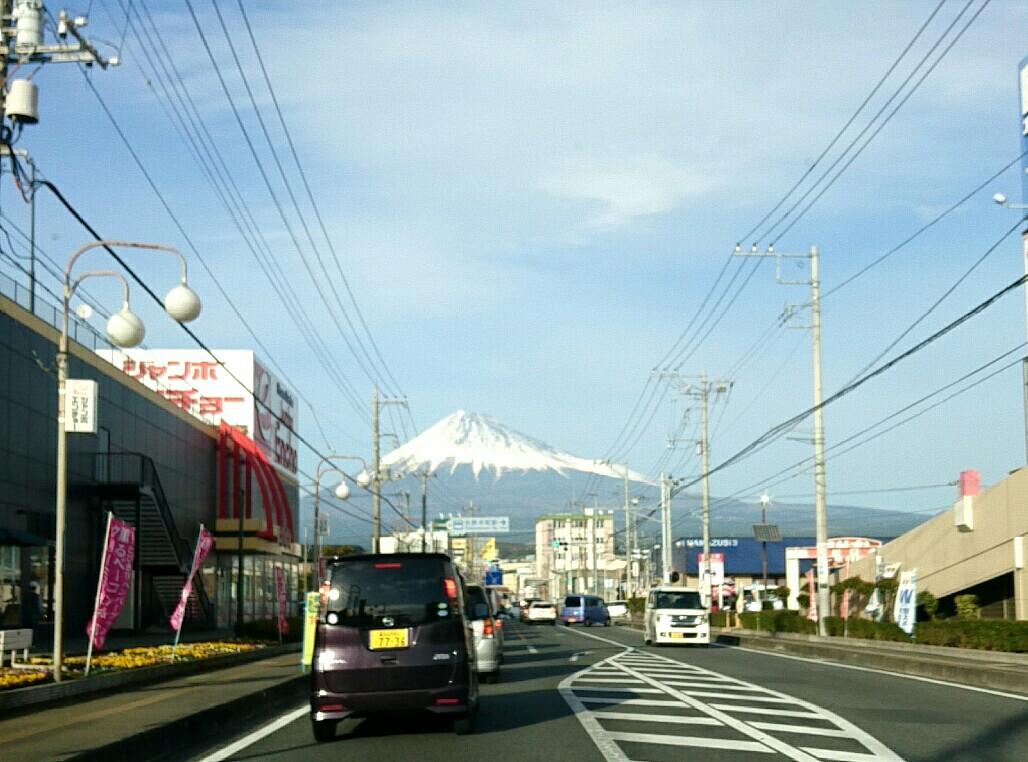 富士市街から