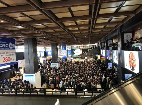 仙台駅でのパブリックビュー