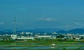小田原近くからの富士山