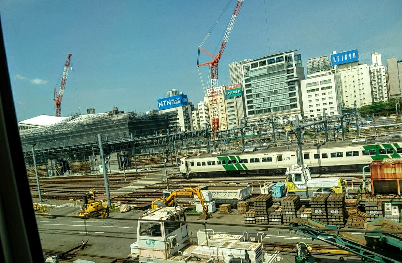 山手線新駅工事中