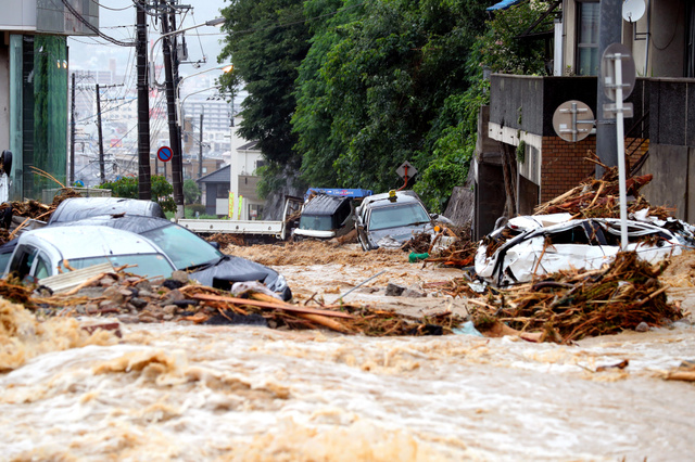 豪雨の被害