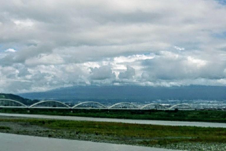 台風一過の富士山