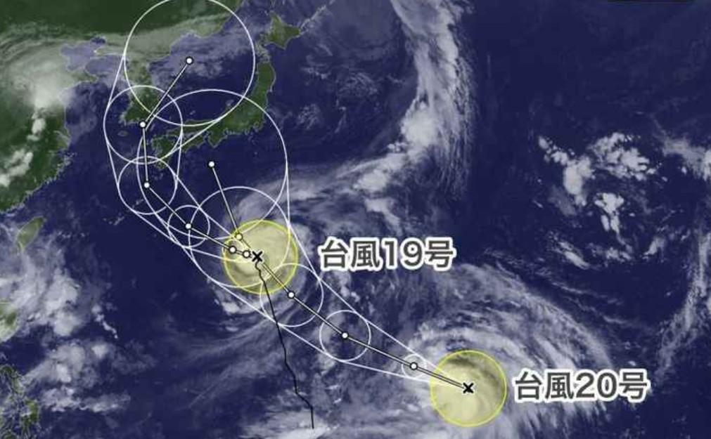 またダブル台風が