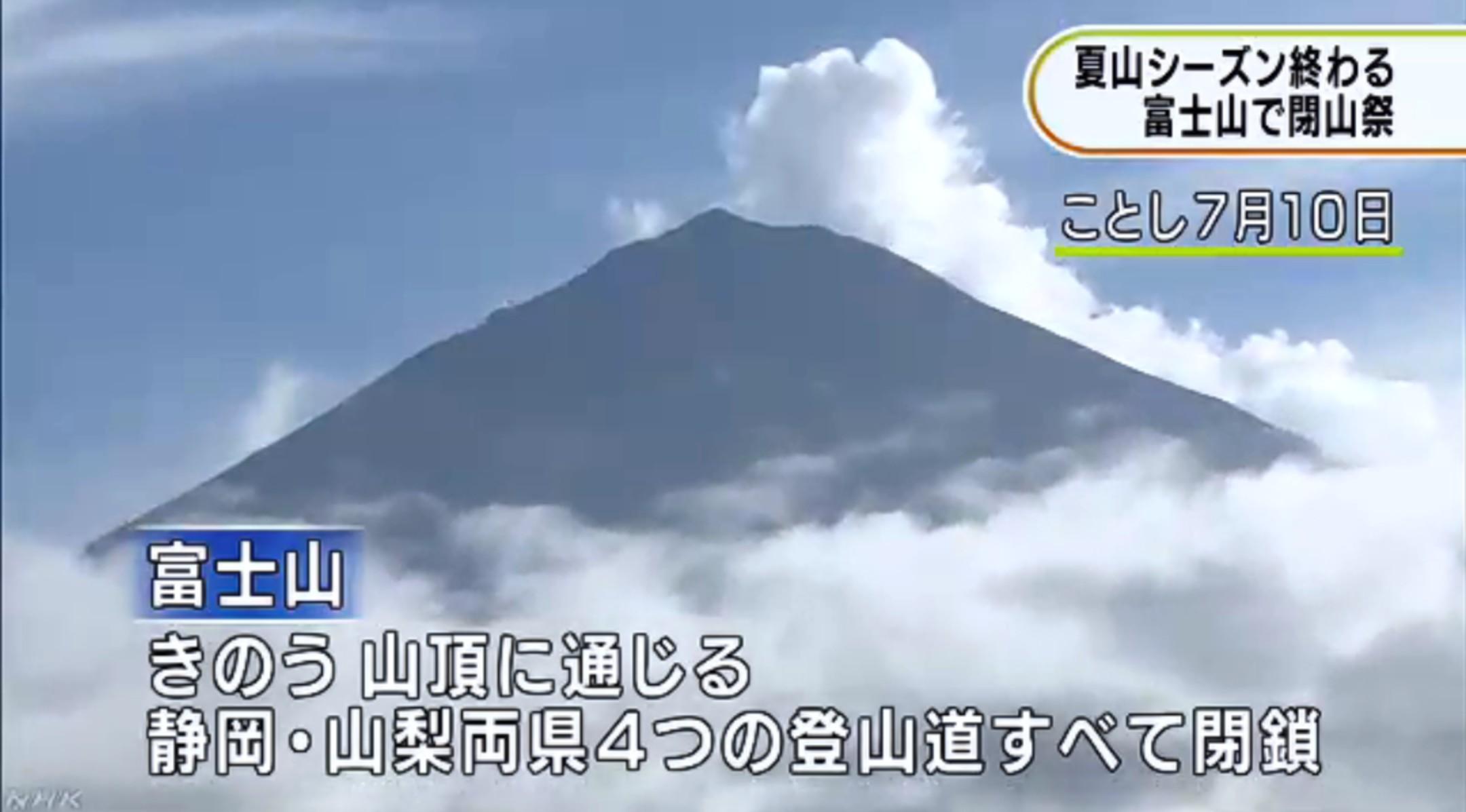 富士山閉山