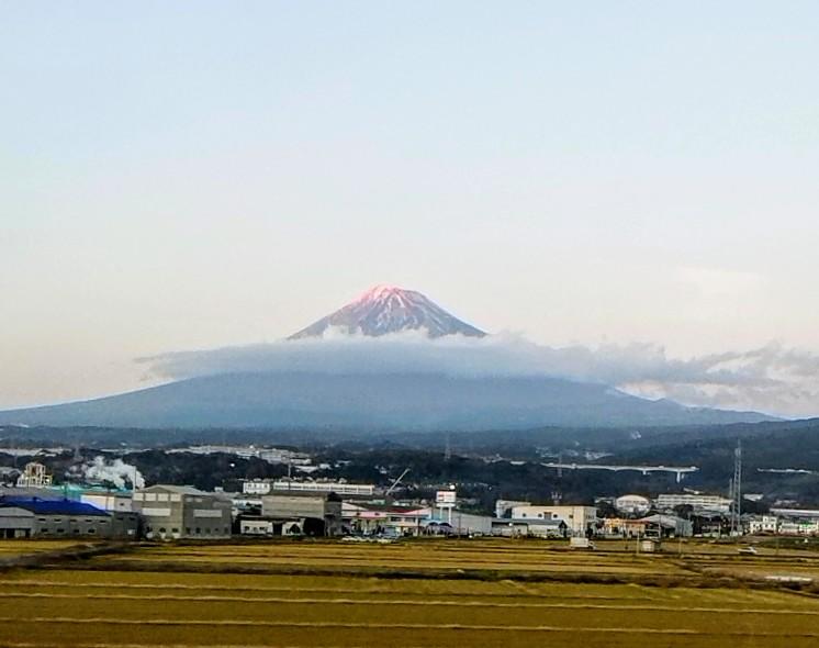 赤富士と逆さ富士