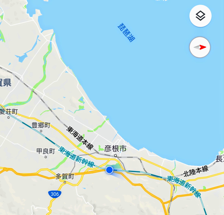 琵琶湖近くは雨?