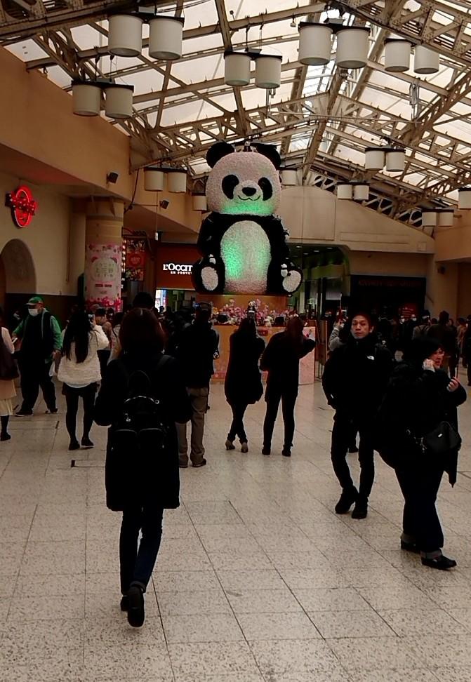 改めて上野駅のパンダ